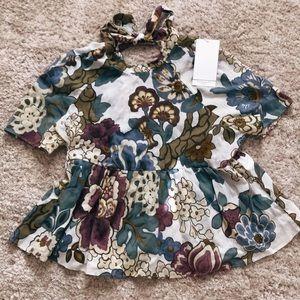 Zara flower print top
